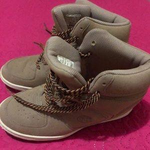 Beige Champion Wedge sneaker